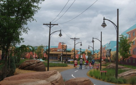 Radiator Springs section of the Art of Animation Resort (photo by Miss Bonnie)