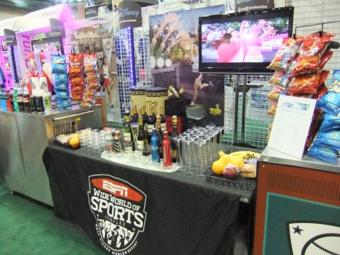 The best booth at the race expo!