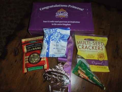 Princess Half-Marathon Snack Box and Medal