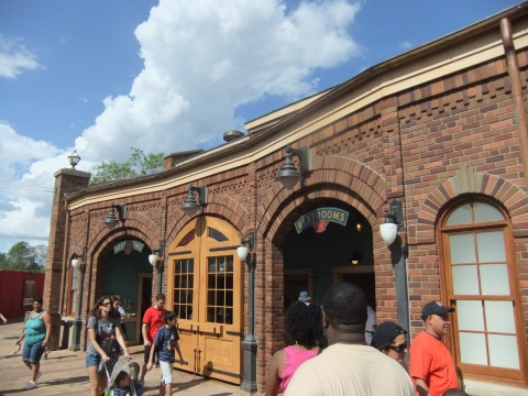 Fancy-dancy restrooms at the new Storybook Circus train stop