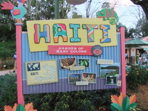 Haiti area at Flower & Garden Festival