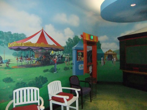 """Carnival"" room in the Epcot Wonders of Life Pavilion"