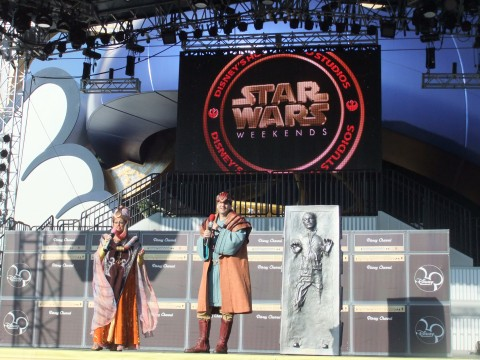 "Star Wars Weekends stage in front of the ""Hat"""