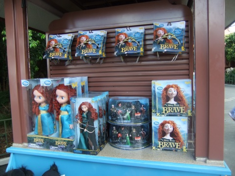 Just a small sample of the Merida/Brave merchandise available even before the movie hit the big screen