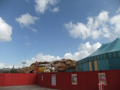Construction wall in Fantasyland