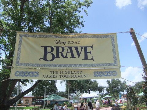 Highland Games Banner in Epcot