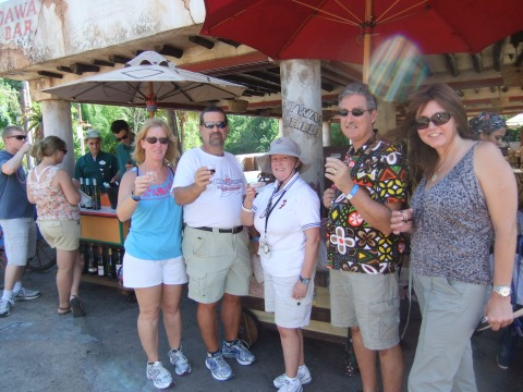 Cheers from the Wine Walk!