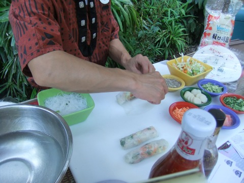 Spring Roll Making Demonstration