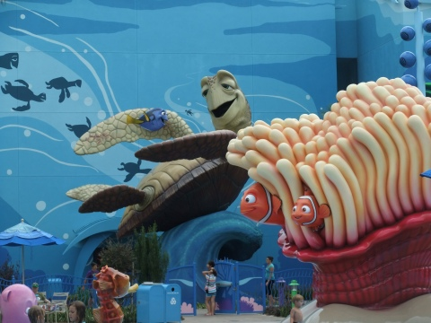 Part of the main pool area at the Art of Animation Resort