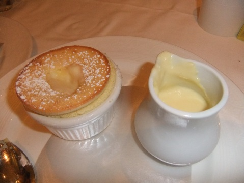 One of the desserts at Royal Palace: Grand Marnier Souffle