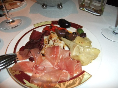 An amazing selection of Antipasti starts the meal at Palo - the Bresaola was to die for...