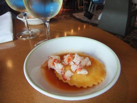 "Lobster Ravioli prepared at the ""Anyone Can Cook"" culinary demo"