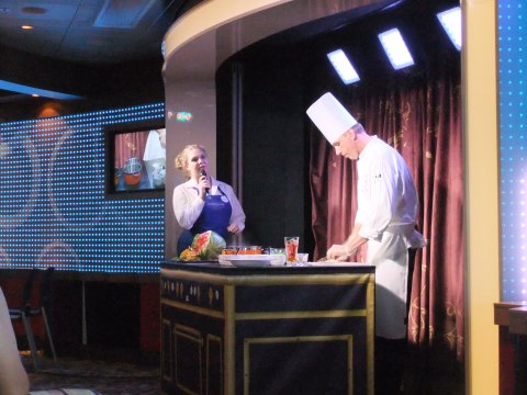 """""""Anyone Can Cook"""" culinary demo on board the Dream"""