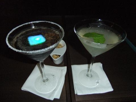 Fancy-schmancy drinks at the Skyline Lounge