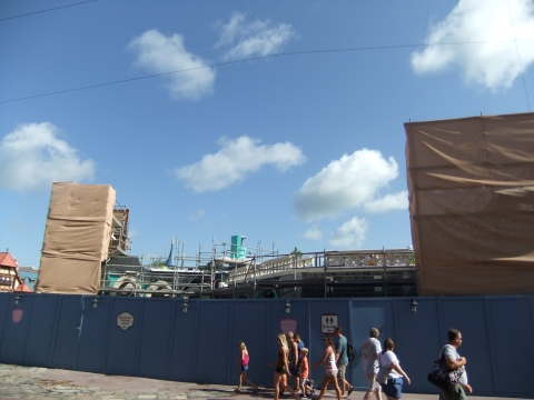 Construction walls in the Magic Kingdom