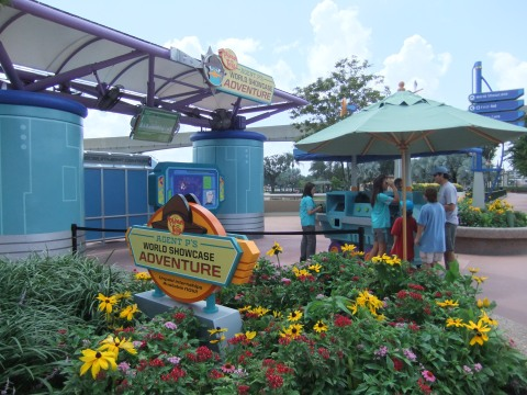 Agent P World Showcase Adventure Kiosk