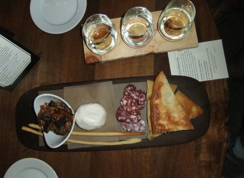"""""""La Siciliana"""" Plate - Caponata, Cacciatorini Sausage & Fresh Mozzarella"""