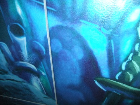 """Classic"" Hidden Mickey in Little Mermaid Room at Art of Animation Resort"