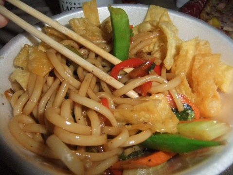Stir-fried Veggie Noodles at Captain Cook's