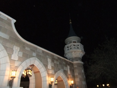 New Fantasyland entrance wall