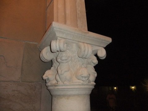 Detail on column of New Fantasyland wall
