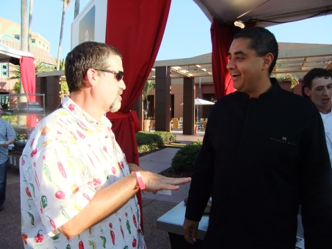 Yours truly with Big-Time chef and restauranteur Michael Mina