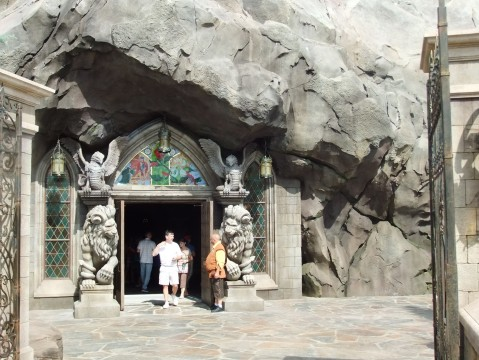 Entrance to the Beast's Castle and the Be Our Guest Restaurant