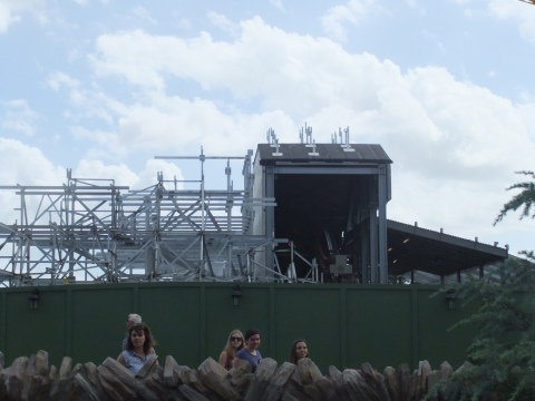 Seven Dwarves Mine Train construction