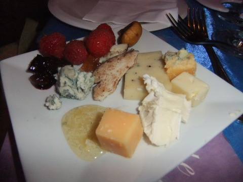 A nice selection of cheeses and accompaniments