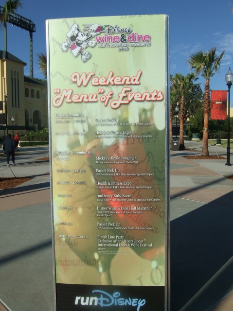 Wine & Dine Weekend schedule of events outside the race expo
