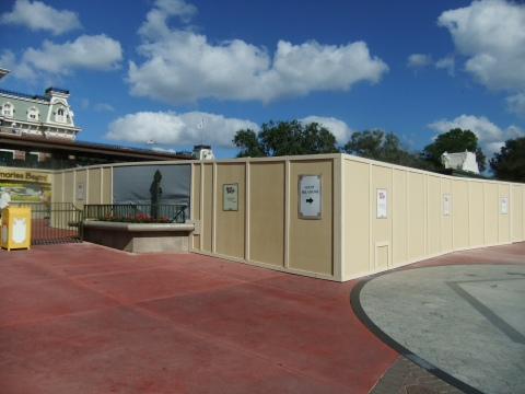 More construction wall fun at the entrance to the Magic Kingdom!