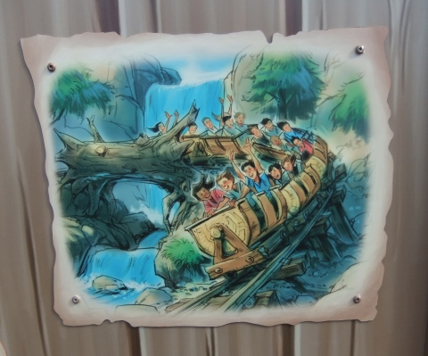 New Fantasyland Seven Dwarfs Mine Train Concept Art Construction Wall Walt Disney World Magic Kingdom