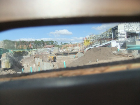 A look thru the Peephole in the Construction Wall of the Seven Dwarfs Mine Train Ride