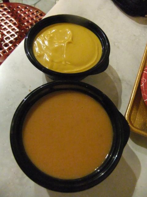 Soupe de Potiron - pumkin soup $4.25Bisque de Homard - lobster bisque