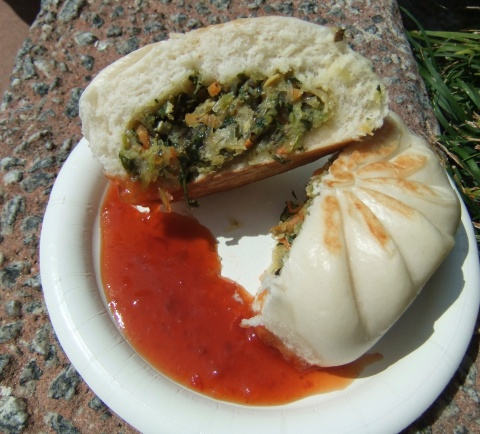 The insides of the Vegetable Bun