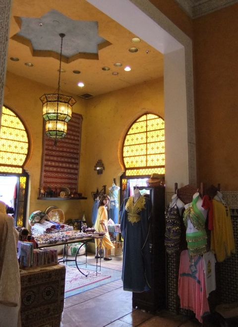 Condensed Morocco gift shop.