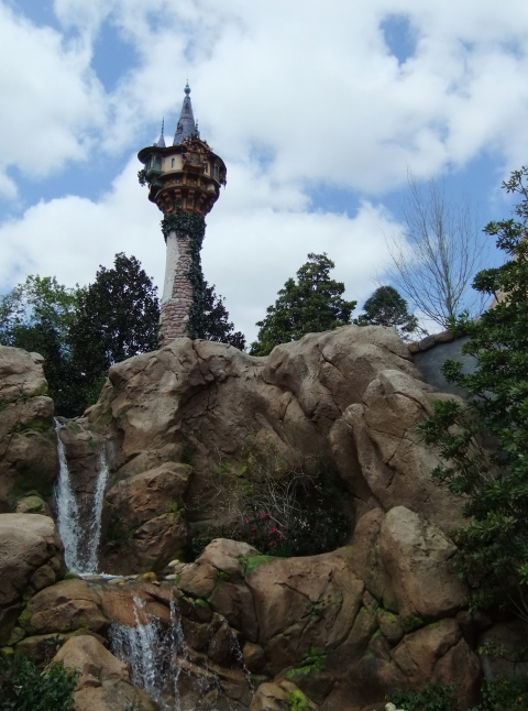 Rapunzel's Tower in the Magic Kingdom