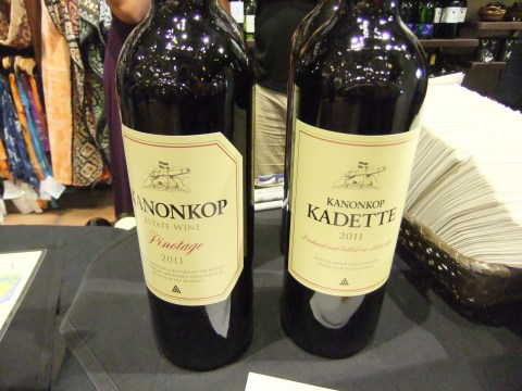 Pinotage and Kadette wines from Kanonkop winery