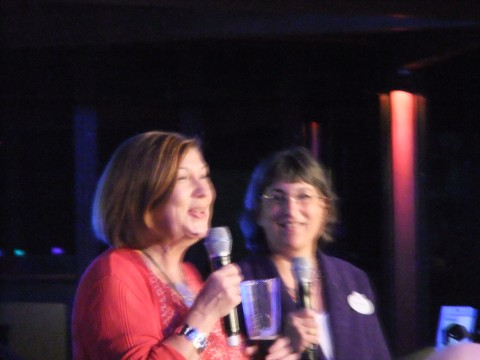 Pam Smith and Marianne Hunnel... sorry for the horrible picture ladies, I had a Kimchi Dog in my hands at the time...