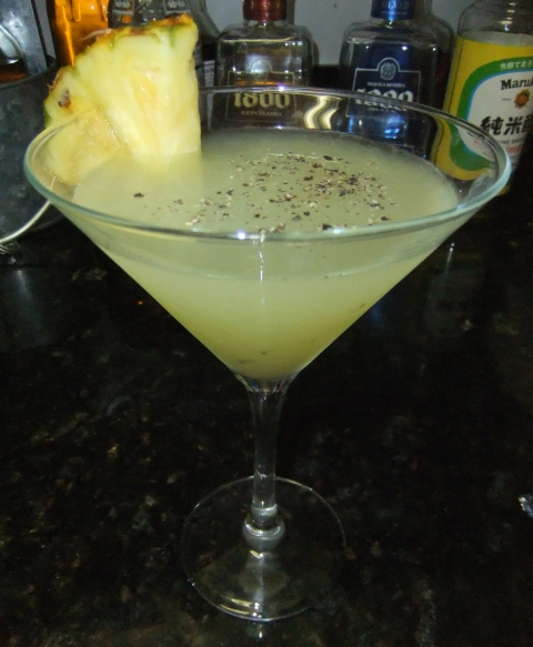 Pineapple and Black Pepper Margarita