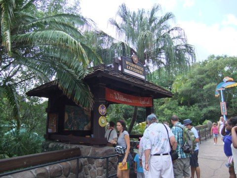 Wilderness Explorers Headquarters on the bridge between the Oasis and Discovery Island