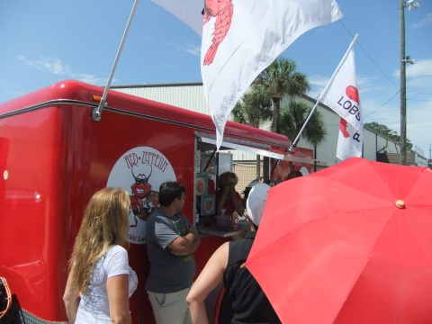 The Red Zepplin truck was serving up Lobster Rolls and other crustacean-filled goodies