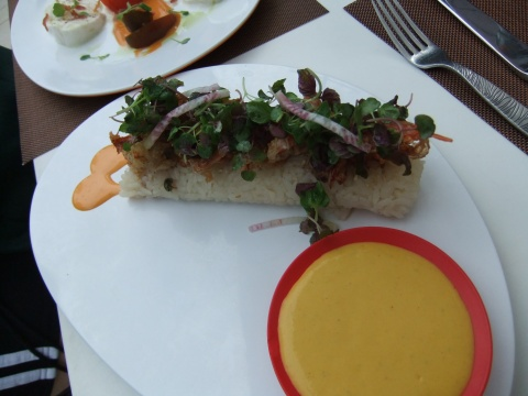 """Spider Roll"" from the Cabana Bar and Beach Club"