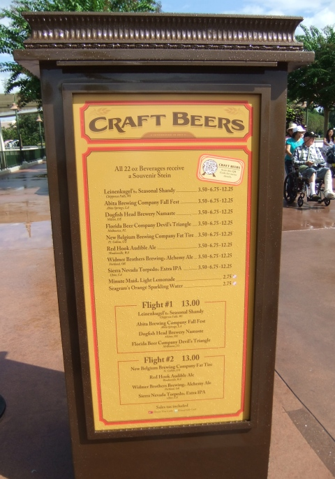 Craft Beer Booth Menu