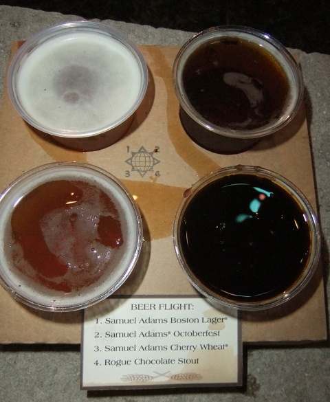 Beer Flight at the Hops & Barley Market