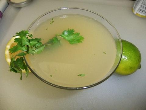 Pear-Cilantro Margarita