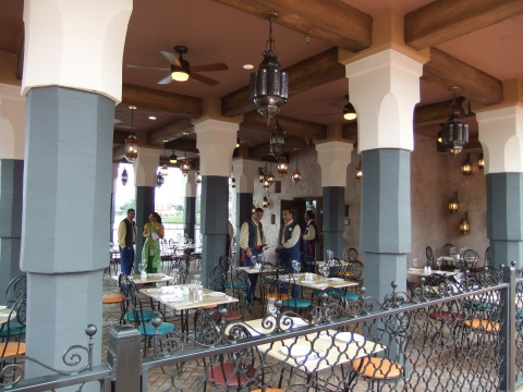 Outdoor seating area at Spice Road Table