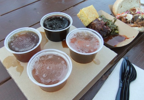Beer flight and BBQ...