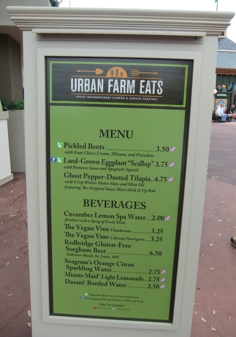 Urban Farm Eats Menu