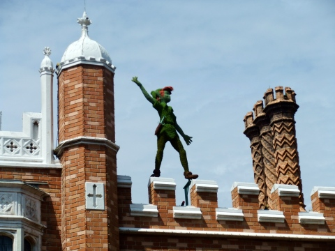 Peter Pan high in the sky in the UK
